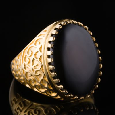 Onyx 14K Gold Ring