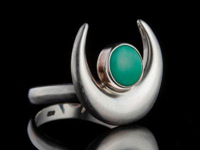 Truqoise silver ring