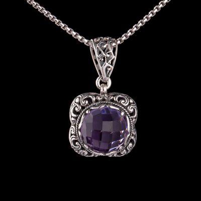 Ametyst silver pendant