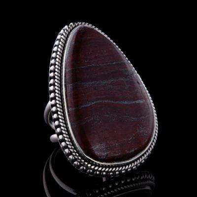 Tiger Iron silver ring