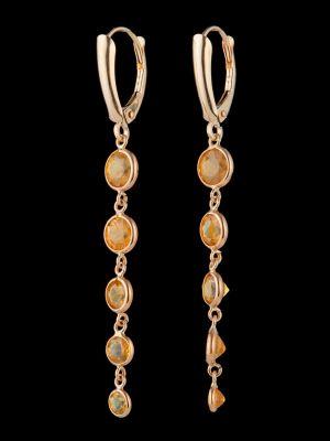 Yellow sapphire 1K earrings