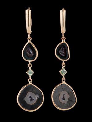 Druzy geode 14K Gold earrings