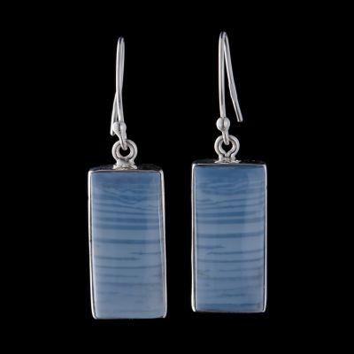 Owyhee opal silver earring