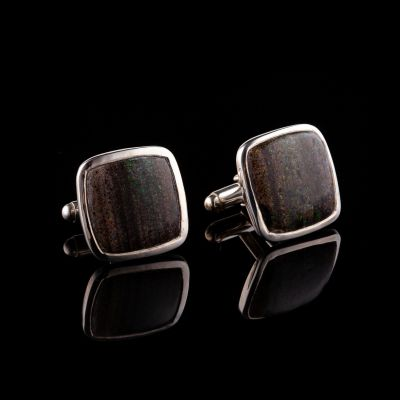 Silver Cufflinks With Resin