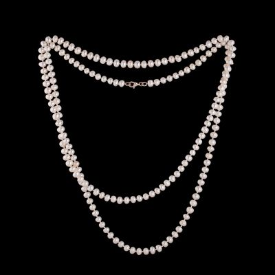 Freshwater pearl necklace, 140cm