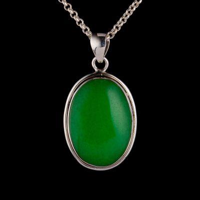 Jade silver pendant