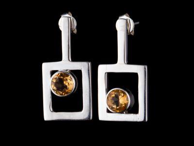 """""""I am worthy"""" silver earrings"""
