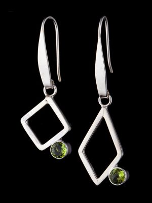 """""""Passion"""" silver earrings"""