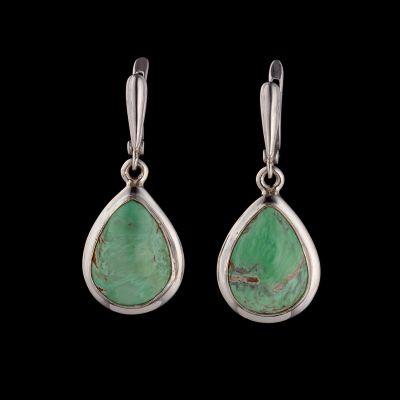 Variscite silver earrings