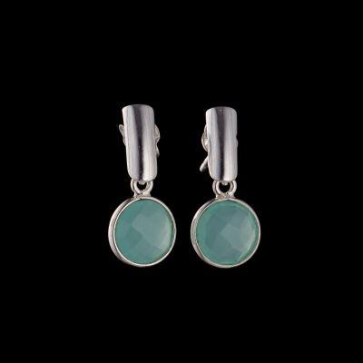 Chalcedony silver earrings
