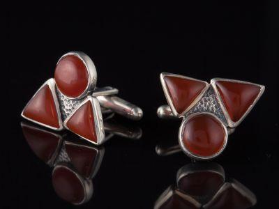 Three Red Onyx Cufflinks