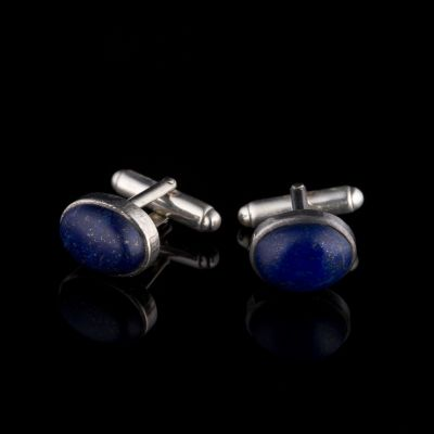 Lapis Lazuli Silver Cufflinks