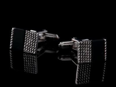 Onyx Silver Cufflinks
