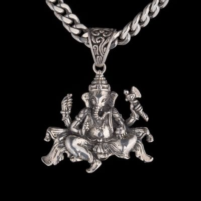 Silver Pendant - Ganesha