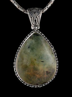 Prehnite Silver Pendant