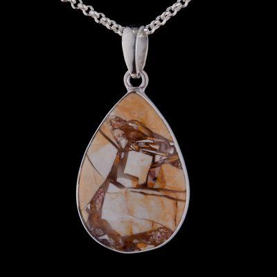 Botswana Mookaite silver pendant