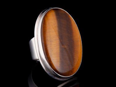 Tiger Eye Silver Ring