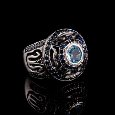 Sapphire And Blue Topaz Silver Ring