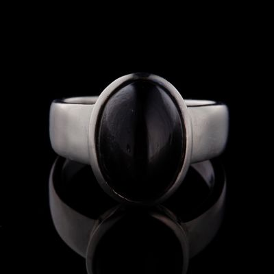 Indian star silver ring