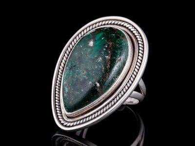 Crysocolla Silver Ring