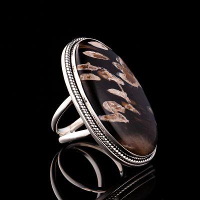 PEANUT WOOD JASPER silver ring