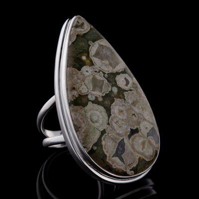 RAIN FOREST JASPER silver ring