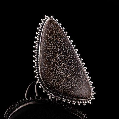 UTAH AGATE silver ring