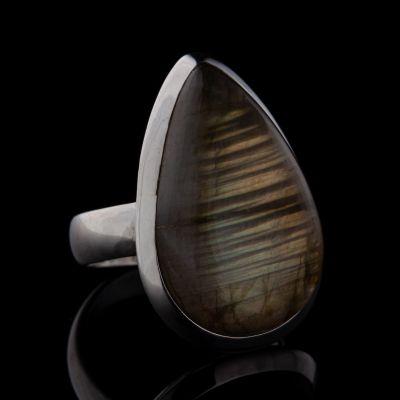 Labradorite silver ring