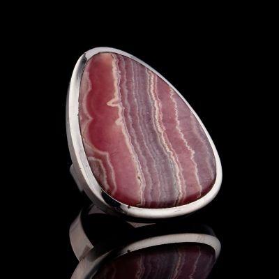 Rodocrosite silver ring