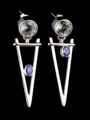 """""""Self-trust"""" silver earrings"""