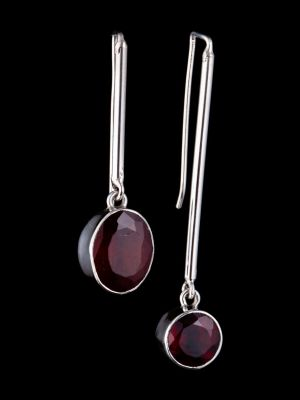 """Perfect balance"" silver earrings"