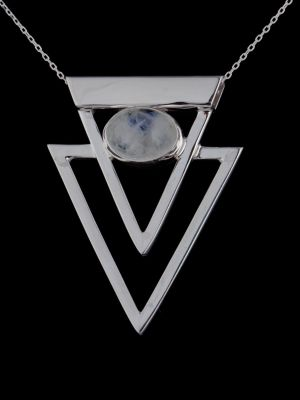 """Wild Feminine"" silver pendant"