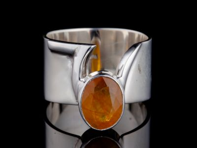 """Creativity"" silver ring"