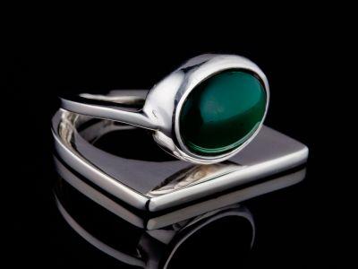 """Self-trust"" silver ring"
