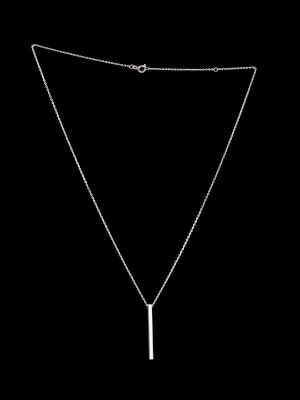Silver Necklace With One Stick